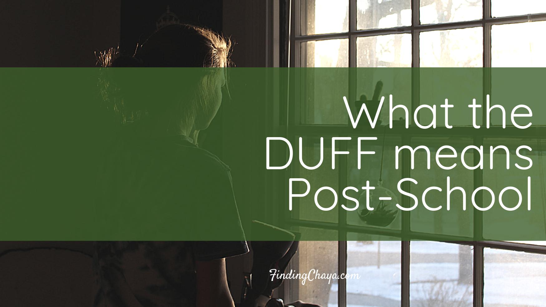 What The DUFF Means Post-School