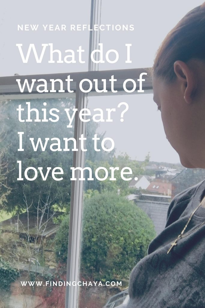 New Year Reflections for 2020 - What do I want out of this year? I want to love more.