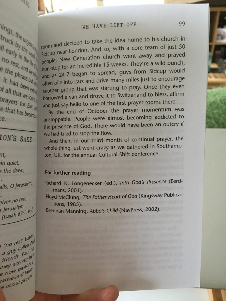 5 Good Things In 2020 So Far -  Reading Red Moon Rising by Pete Grieg and Dave Roberts. Caption: Addicted to the presence of God? I'll have some of that, please!