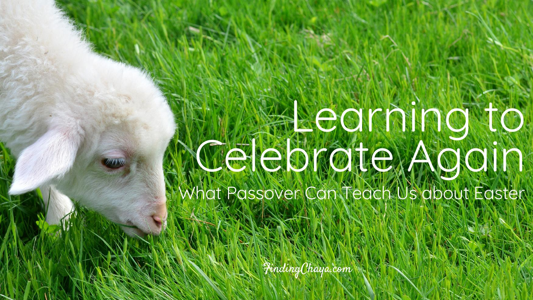 Learning to Celebrate Again: What Passover Can Teach Us about Easter