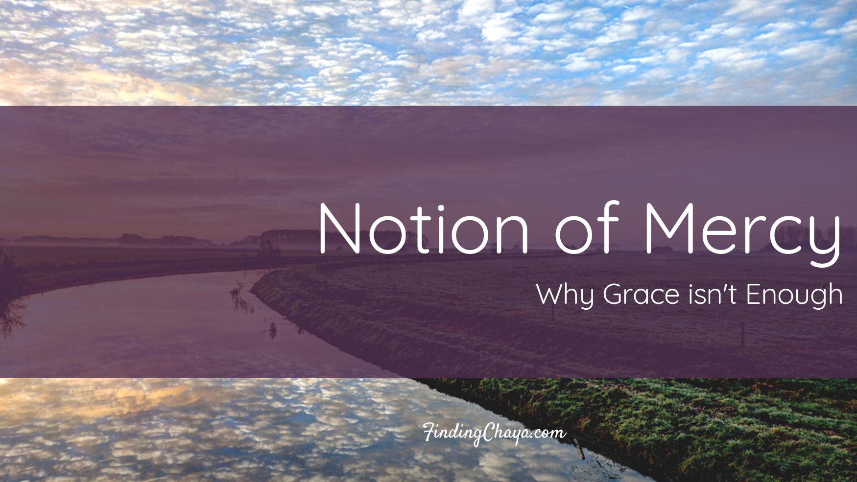 Notion of Mercy: Why Grace isn't Enough